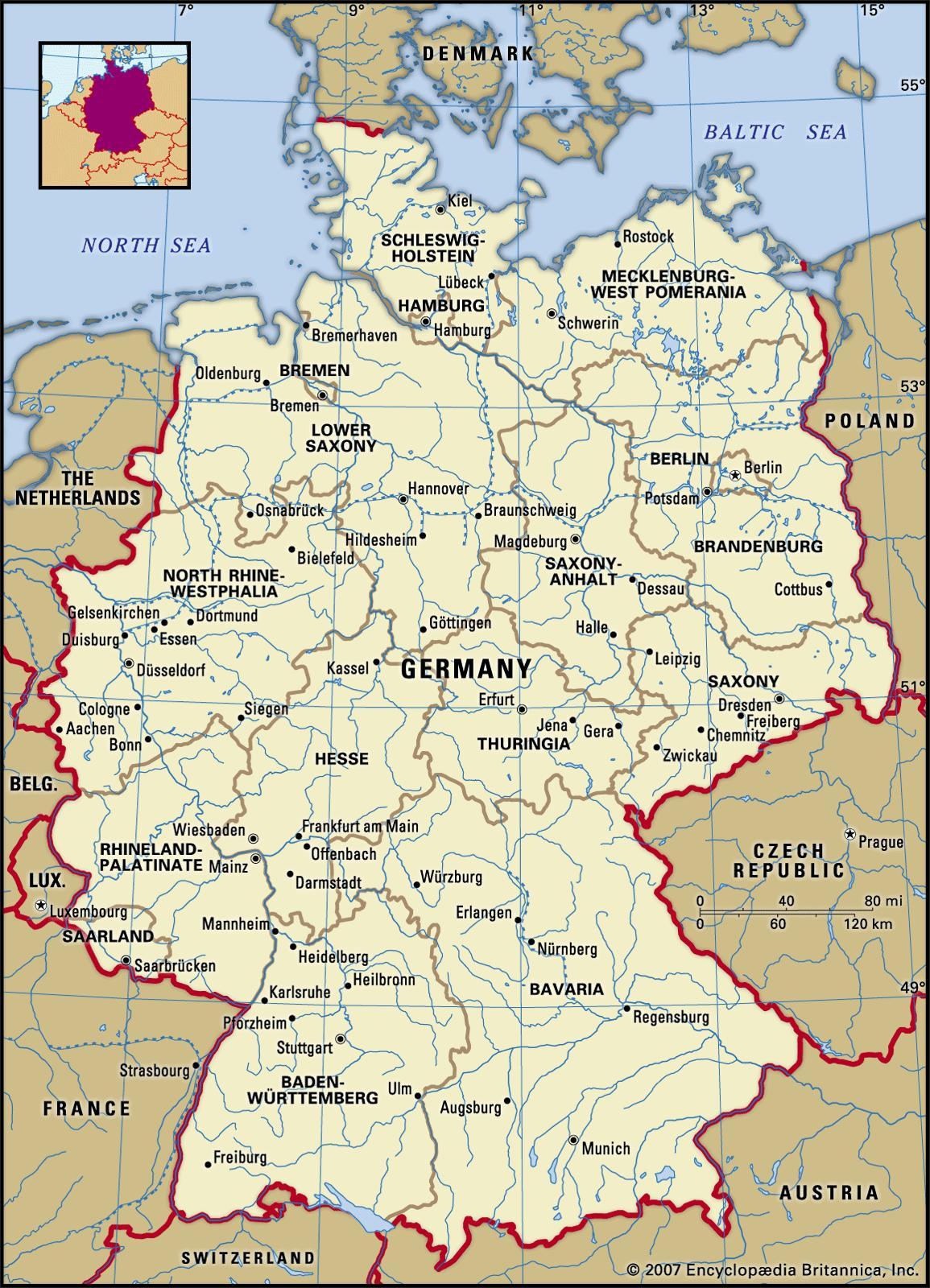 موقعیت جغرافیایی المان