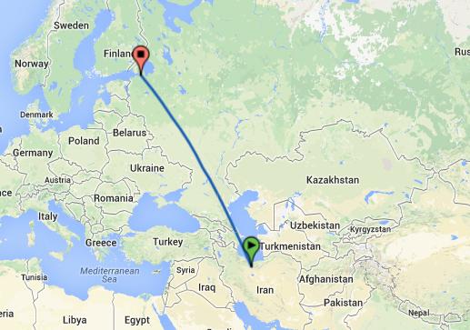 فریت بار از فرودگاه امام خمینی تهران به مقصد سنت پترزبورگ روسیه