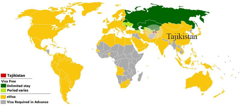 موقعیت کشور تاجیکستان