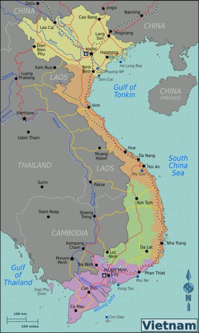 نقشه ویتنام